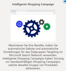Intelliegente Shopping Campaign